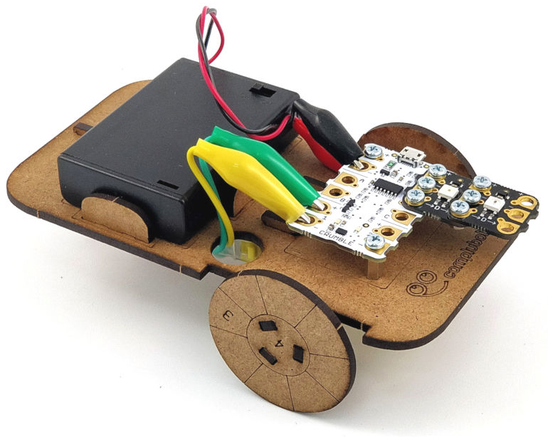 Vehículo robótico simple con Crumble