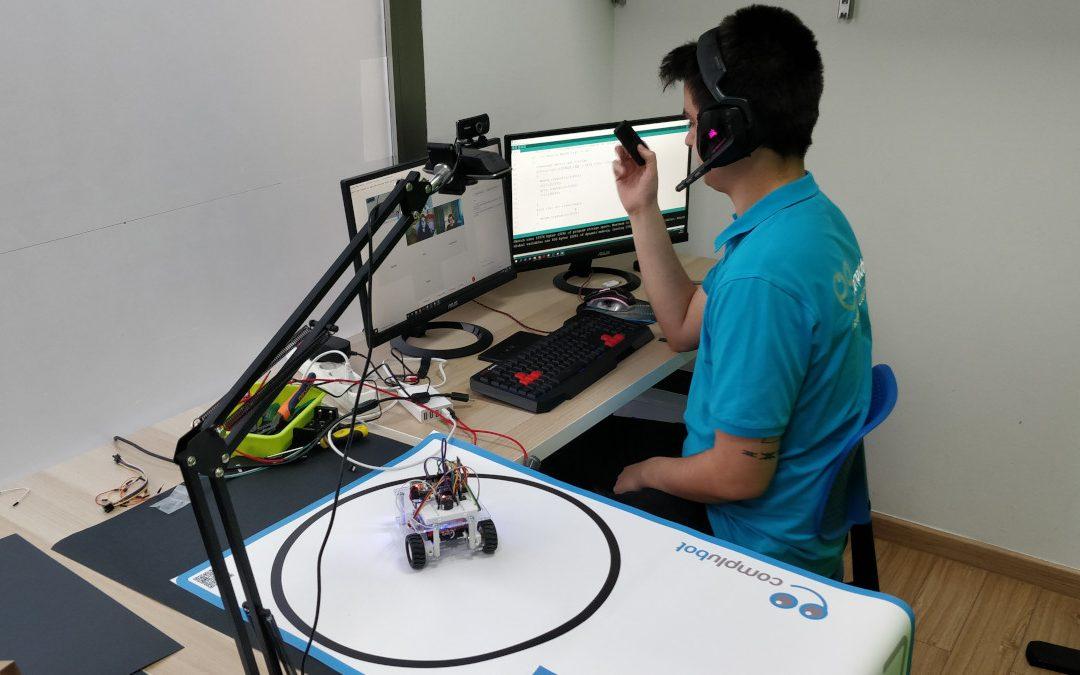 Control del robot Crystalino mediante infrarrojos